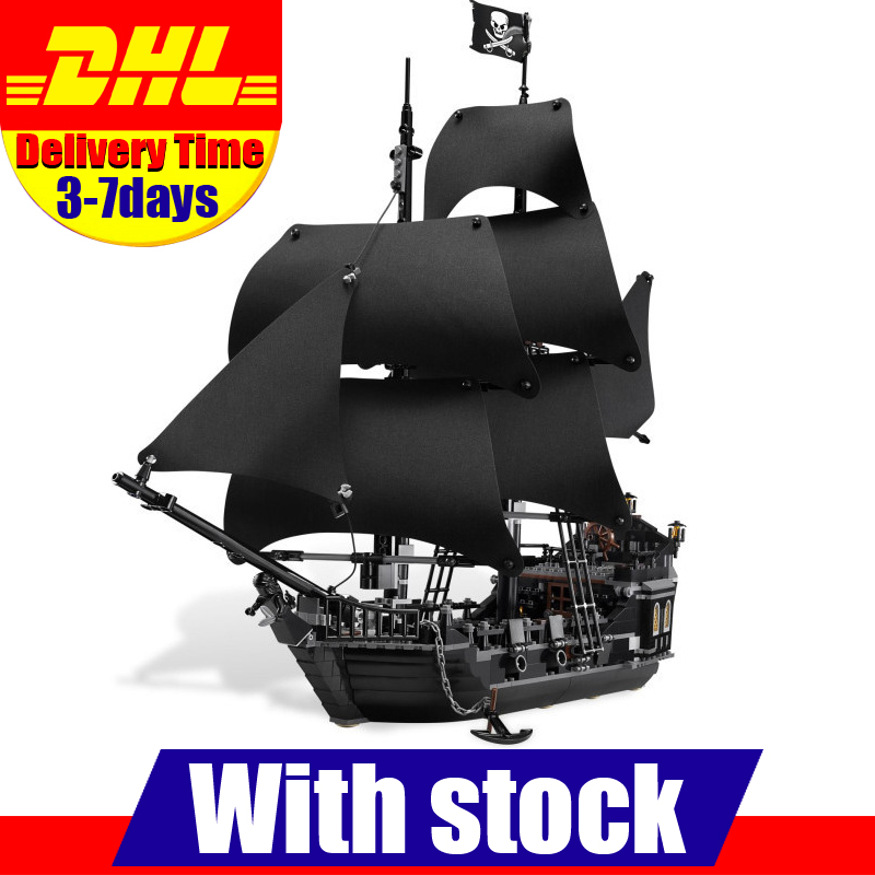 DHL 2017 LEPIN 16006 Pirates of the Caribbean The Black Pearl Building Model Blocks Set  Toys Clone 4184 dhl lepin 22001 1717pcs pirates of the caribbean building blocks ship model building toys compatible legoed 10210