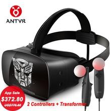 ANTVR 2017 Novo fone de Ouvido VR Óculos Virtual Imersiva em 3D de Realidade Virtual pc Óculos Binocular 110 FOV 2160*1200 VR caixa de Transformador