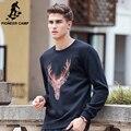 Pioneer Camp brand clothing new hoodies men High quality fashion printed thicken fleece male elk Christmas sweatshirt 622165