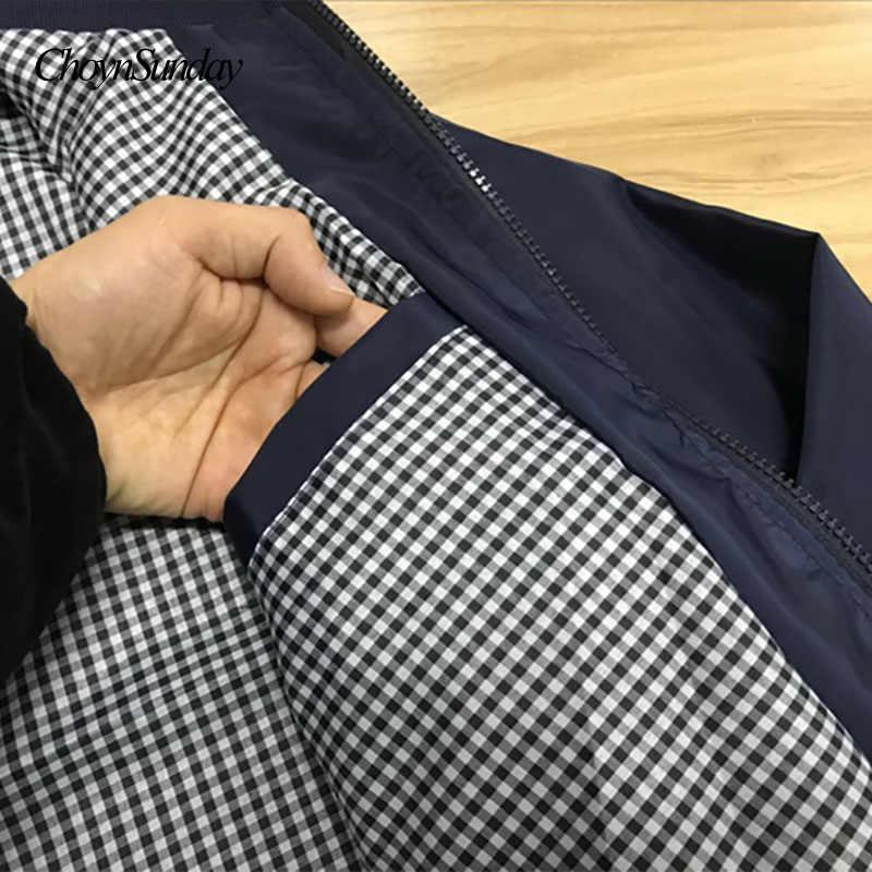 Mode hommes manteaux hommes 2018 nouveau printemps affaires vêtements décontractés été mince coupe-vent hommes noir Bomber vestes trench coat