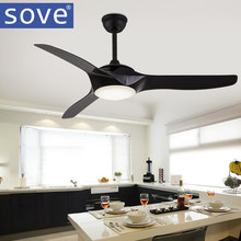 52 inch LED Brown White Black Ceiling Fans With Lights Remote Control living room bedroom home Ceiling Light Fan Lamp(China)