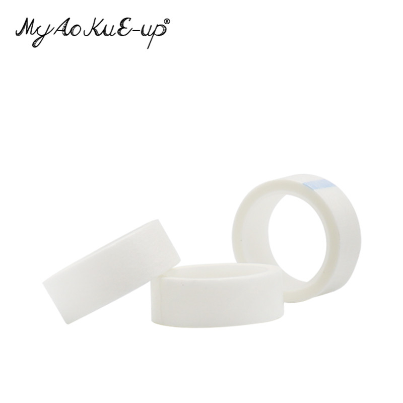 Hot 50PCS/SET Silk Eye Pad Eyelash Extension under Patch Makeup Tool Individual False Eyelash Non-woven Lsolated Tool Wrap Tape