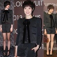 Women 2 Piece Set Fashion Crop Top And Shorts Set Ladies Wool Jacket Shorts Women Suit