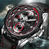 LIGE Waterproof Mens Watches Top Brand Luxury Business Quartz Watch Men Casual Large Dial Clock Sports