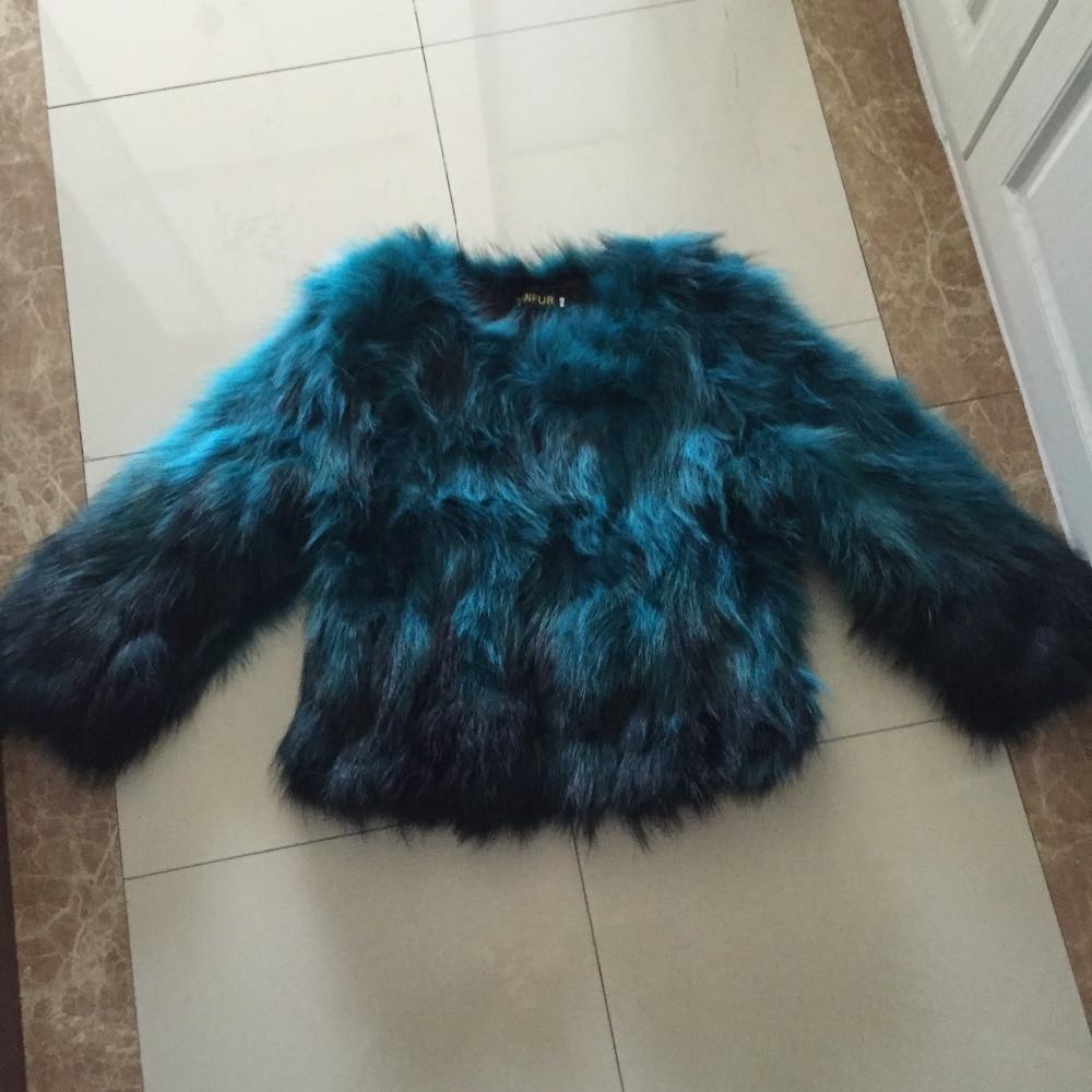 New Arrival Women Real Fox Fur Coat Nature Raccoon Fur Jacket Fashion Real Fur Overcoat top