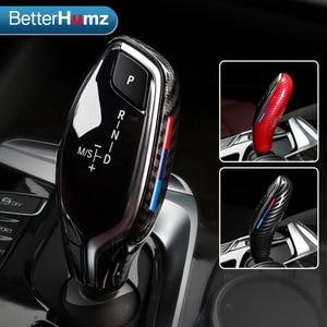 Image 1 - BetterHumz Car Gear Shift Knob Cover Handbrake Lever Protector Auto Interior Decoration For BMW G30 G31 G01 G02 G32 5 Series X3