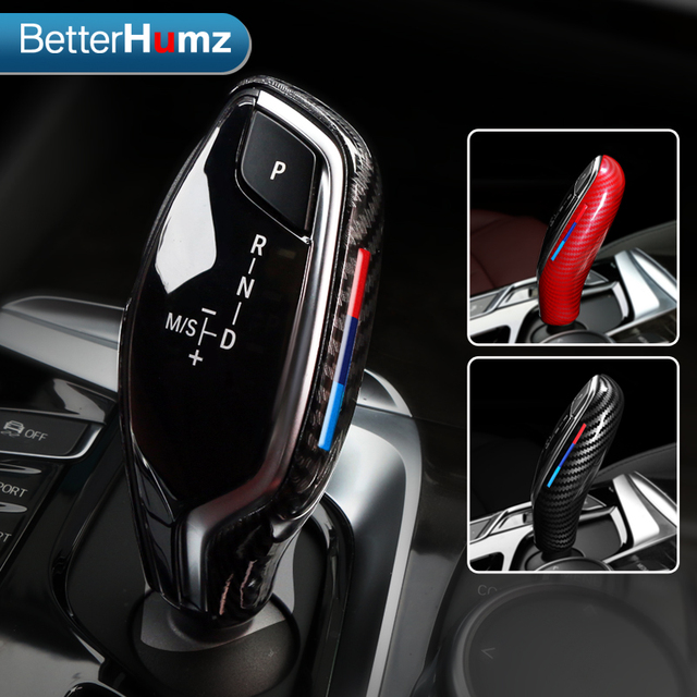 BetterHumz Car Gear Shift Knob Cover Handbrake Lever Protector Auto Interior Decoration For BMW G30 G31 G01 G02 G32 5 Series X3