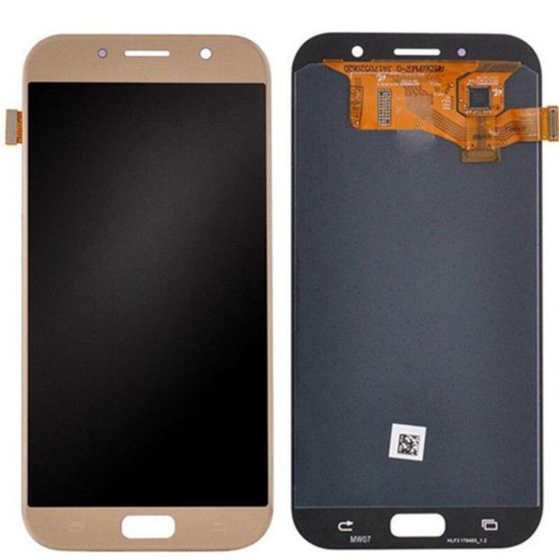 100% Super AMOLED LCD Pour Samsung Galaxy A7 2017 A720 A720F A720M SM-A720F Affichage à L'écran Tactile Digitizer Assemblée Remplacement