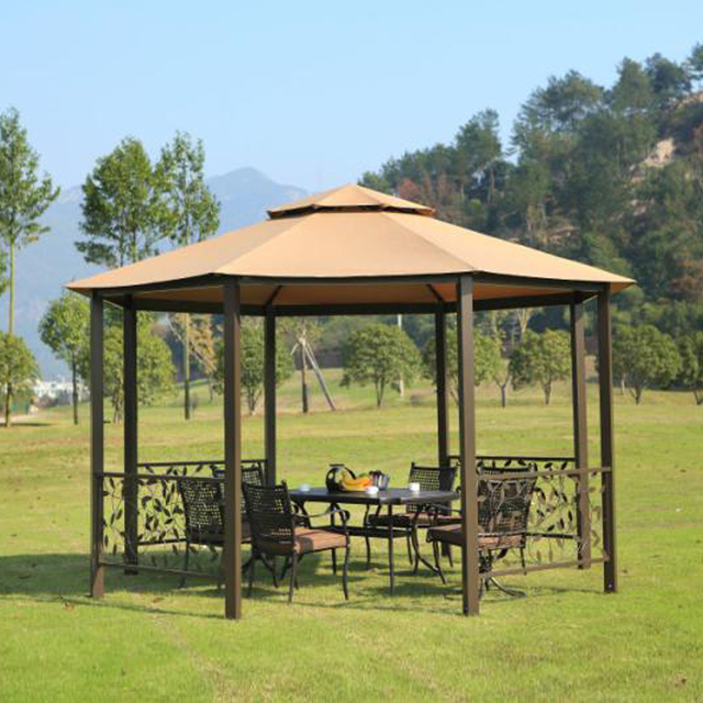 Dia 4 Meter 8 Edge Shape Garden Patio Gazebo Tent Aluminum Outdoor Sun  Shade Pavilion