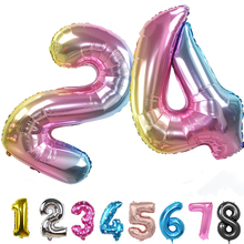 10 Color 32inch 32 Number Balloon Birthday Party Decorations Kids Favors Toys Chrismas Foil Balloons