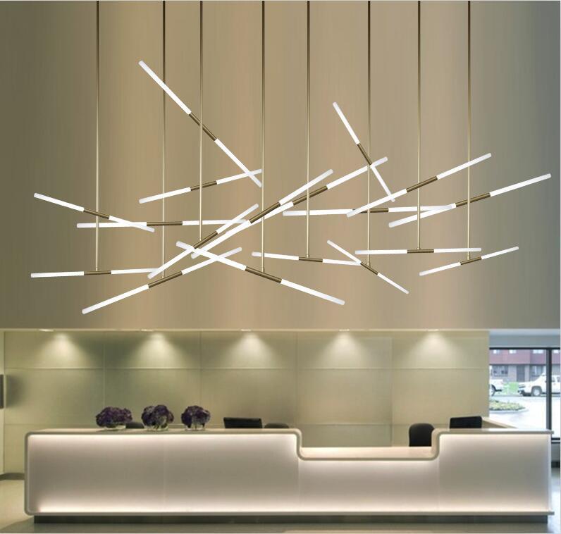 Post Modern Branch Light Ceiling Pendant Lamp Office Counter Island Loft Shop Hall DIY Decorative Lighting Fixture