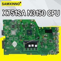 X751sa 4 núcleos n3150 cpu 4gb ram placa-mãe do portátil para For Asus x751s x751sj x751sv mainboard testado trabalho