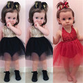 Toddler Girls Sequin Romper Dress Sleeve Fashion Lace up Clothes Backless Summer Sunshine Girls Dress Clothes