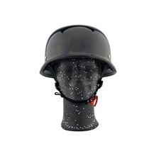 Sports Safety Helmet Retro Motorcycle Cycling Helmet German Chrome Carbon Fiber Half Face Capacetes Motociclismo M L XL Helm