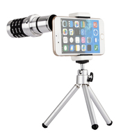 Professional 12X HD Zoom Telephoto Mobile Lens Fisheye Lens Wide Angle Lens Macro Lens For IPhone