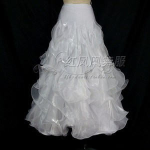 Image 3 - New style Ballroom dance costumes sexy spandex crimping ballroom dance skirt for women ballroom dance skirts S 4XL LBR 953