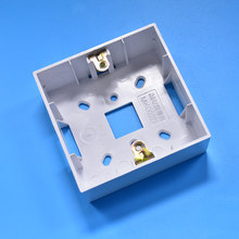 Switch Panel Surface Mounted Square Corners Bottom Box 86 type Wall Switch Socket Box 1pcs(China)