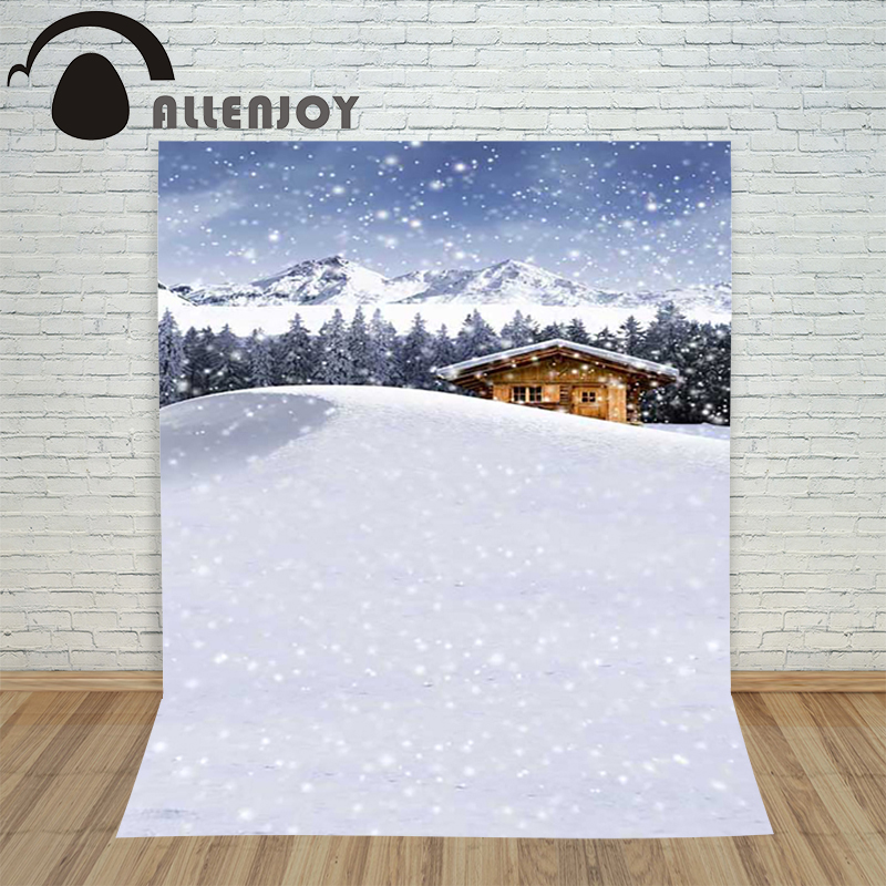 Christmas backdrop photography Allenjoy Snow houses Snowy mountains background photographic studio vinyl children's camera куртка женская zimtstern snow jacket snowy women fuchsia white