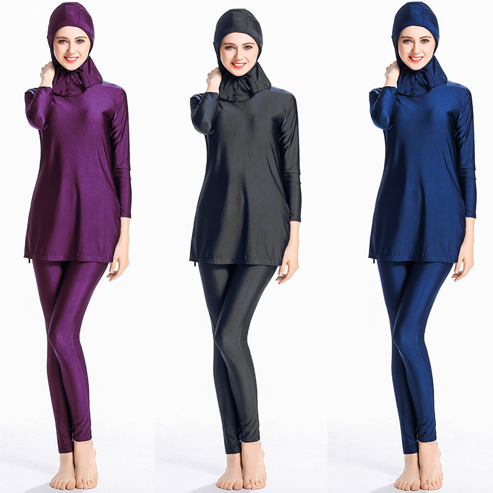 Ladies Full Cover Muslim Swimwears Womens Swimsuits Arab Islam Beach Wear Long Modest Islamic Hijab Swimming Burkinis цена
