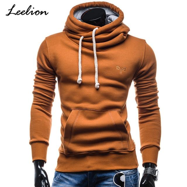 New Turtleneck Hoodies Men Hooded Sweatshirts