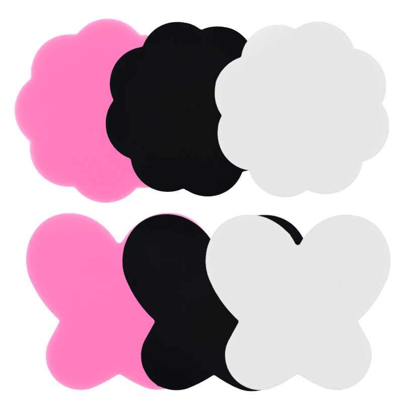 2 ชิ้น/เซ็ตDIYผู้หญิงซิลิโคนสีPaletteผีเสื้อMAT Plum Blossomล้างทำความสะอาดเล็บแสตมป์แผ่นตกแต่งเล็บมือเล็บเครื่องมือ