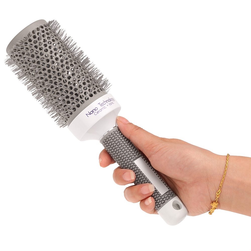 Ceramic ionic radial round comb hair brush salon styling for Salon hair brushes