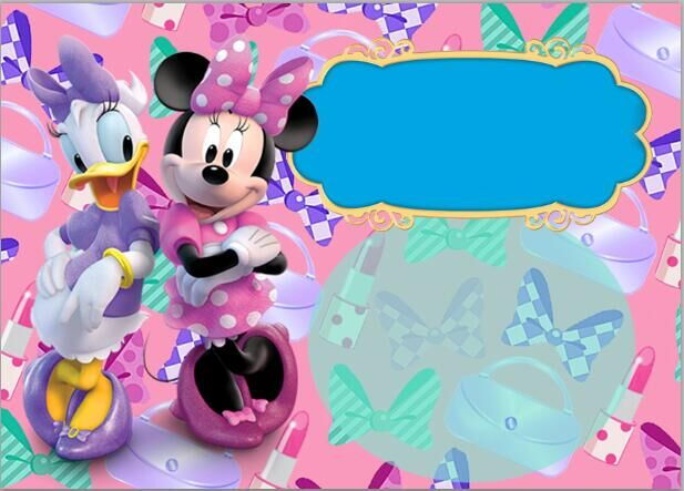 7x5ft minnie daisy duck bow boutique party custom photo. Black Bedroom Furniture Sets. Home Design Ideas