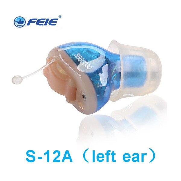 Портативный Мини цифровой Невидимый слуховых усилитель звука в ухо тон объем Регулируемые слуховые аппараты дропшиппинг S-12A