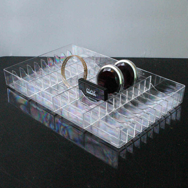 New Acrylic Bracelet Tray Jewelry Storage Box Bracelet Bangle Holder Jewelry Tray Makeup Tools Case Jewelry Storage Box
