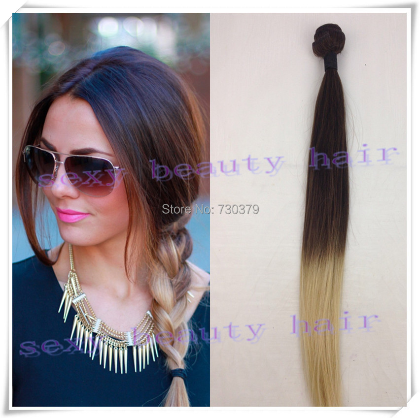Promotion Brazilian Virgin Ombre Hair Extensions Two Tone Human