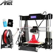 2016 LCD Anet A8 3D-printer Größe 220*220*240 Präzision Reprap Prusa i3 DIY 3D Drucken Volle Acryl mit Filament & Karte & Video freies