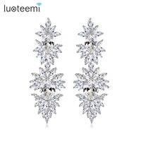 Teemi AAA Cubic Zirconia Diamond Heavy Dangle Earring For Women Pate Clear Diamond Luxury Bridal Jewelry