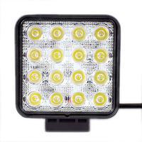 10 30V Square 4 Inch 48w Led Work Light Driving Light For Jeep Boat SUV Truck