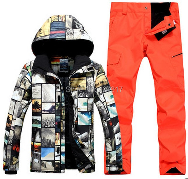 2017 font b mens b font top quality ski suit font b men s b font