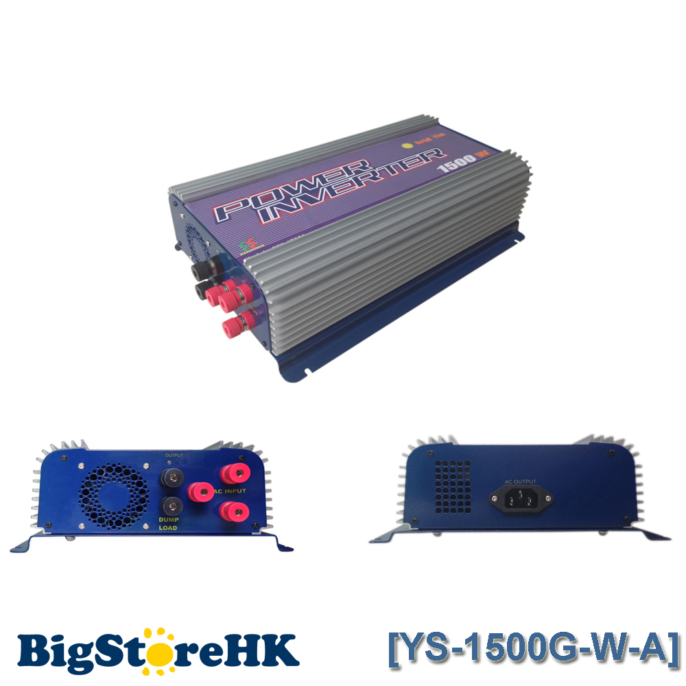 1500W Grid Tie Power Inverter for 3 Phase AC To AC 45V-90V Input Wind Turbine MPPT Pure Sine Wave Inverter Build In Rectifier 1500w grid tie power inverter 110v pure sine wave dc to ac solar power inverter mppt function 45v to 90v input high quality