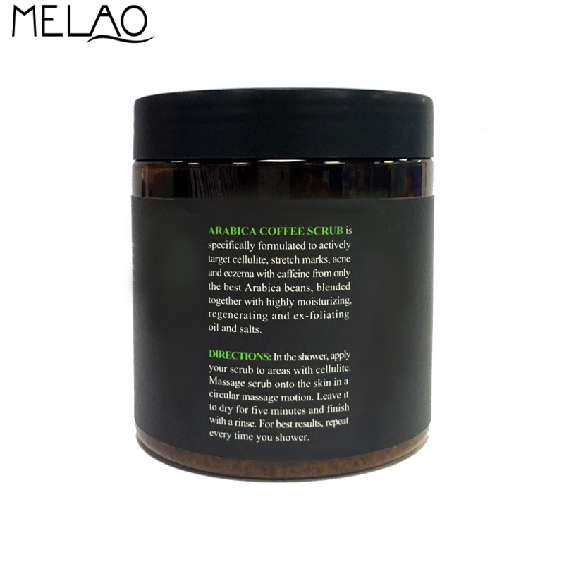 Melao Arabica Coffee Scrub Natural Coconut Oil Body Scrub