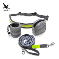 TAILUP Dog Hands Free Leash Walking Running Jogging Puppy Dog Leashes Lead Collars Adjustable Dog Lead