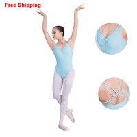 Girls Adult Summer Sleeveless Ballet Leotards Cotton Stretch Bodysuit Women Ladies Gymnastics Leotards Dance Clothes