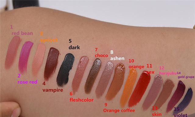 Matte Liquid and Waterproof Lipstick (14 Colours)