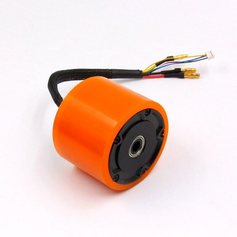 Esk8 7055 70 مللي متر المحور المحرك مع عجلة BLDC H4131 90KV 58KV sensored فرش 24 36 V ل الكهربائية موازنة سكوتر لوح التزلج-في قطع غيار وملحقات من الألعاب والهوايات على  مجموعة 1