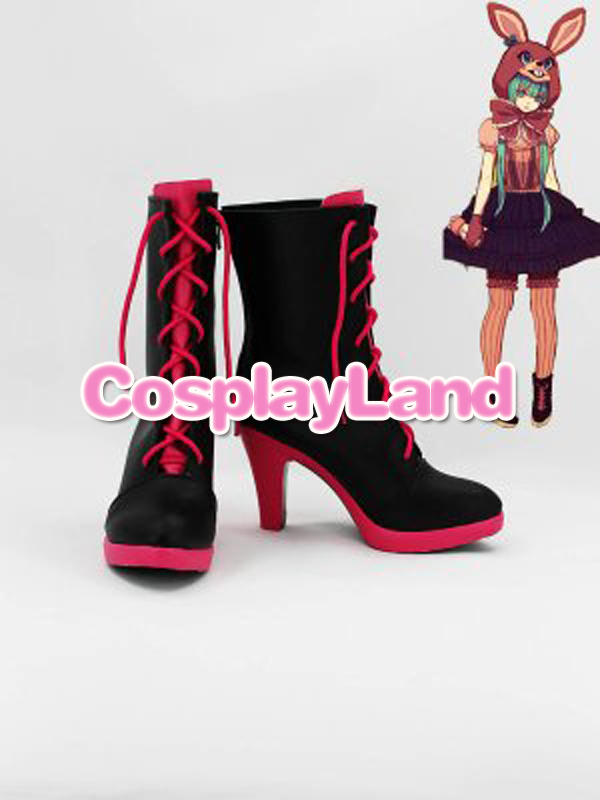 Personnaliser bottes Vocaloid Hatsune Miku chaussures à talons hauts Cosplay Costume Cosplay Halloween fête Cosplay chaussures