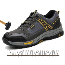 Safety shoes steel toe caps anti-smashing anti-stab wear casual deodorant work shoes safety boots indestructible shoes