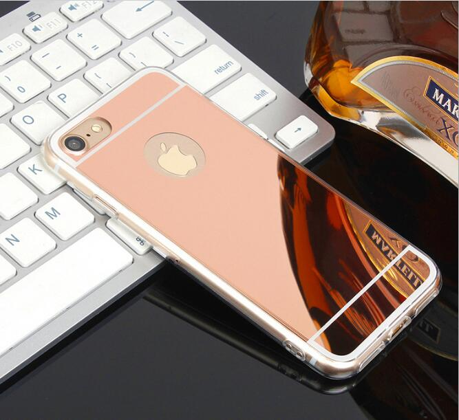 For Samsung Trendy Glossy Mirror Phone Case Soft TPU Back Cover For iPhoneX 8 6s 7plus fundas Full Casing Body Protection