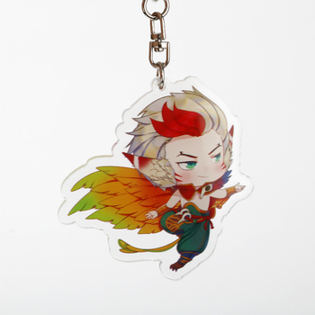 Game LoL League Of Legends Keychain Acrylic Figure Pendant Key Rings Bag Key Holder Accessories Anime Fans Gift 2