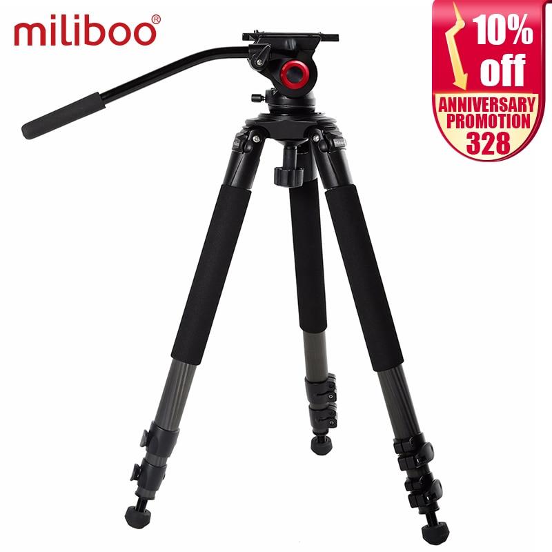 milibo 탄소 섬유 삼각대 모노 포드 전문 디지털 dslr 카메라 캠코더 대용량 스탠드 삼각대 최대 높이 170cm