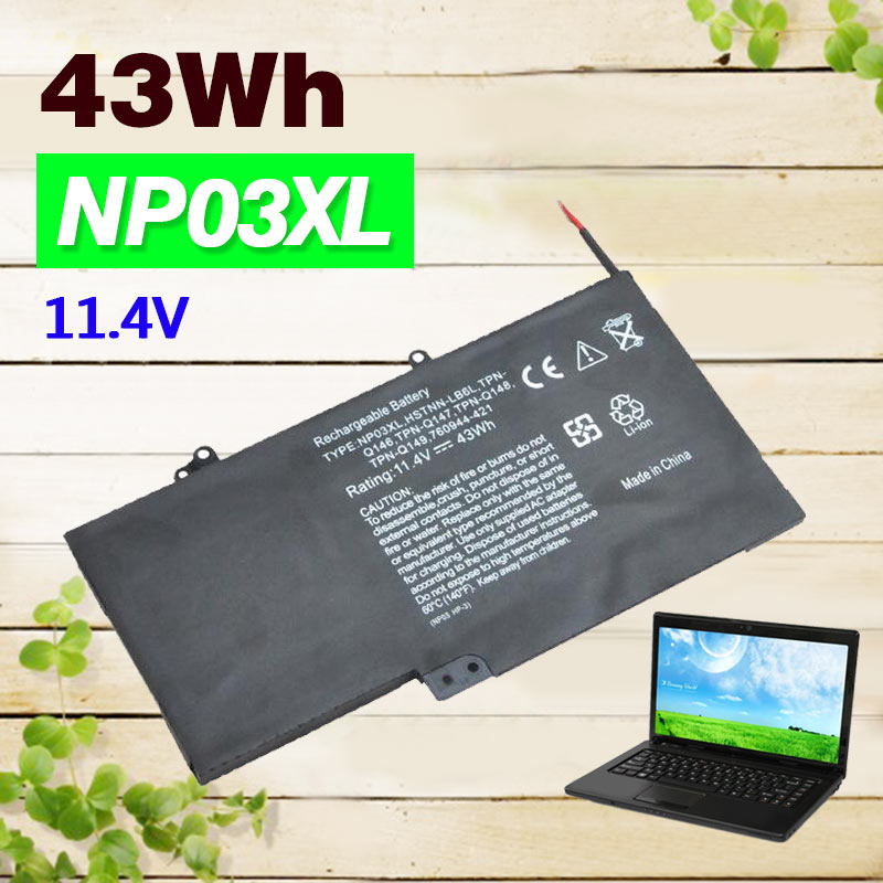43WH battery For HP Pavilion X360 13-A010DX NP03XL TPN-Q146 TPN-Q147 TPN-Q148 TPN-Q149 760944-421 (3ICP6/60/80) HSTNN-LB6L 15 2v 58wh rr04 notebook battery for hp omen 15 15 5014tx tpn w111 778951 421 4icp6 60 80 hstnn lb6n