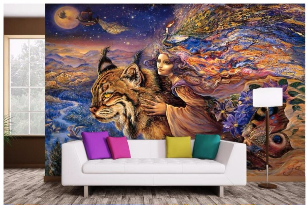 3d wallpaper custom mural non-woven photo The beast and beauty TV backdrop painting 3 d wall murals wallpaer for living room
