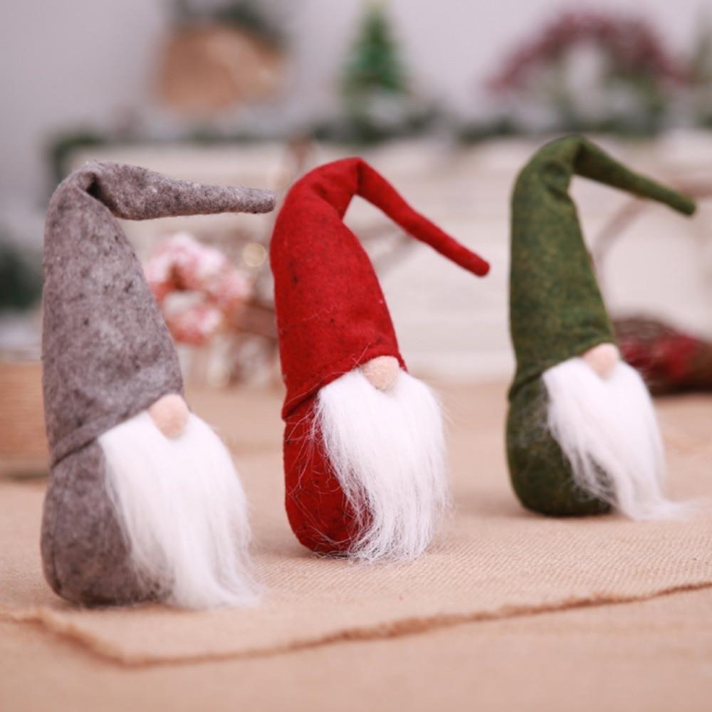 Swedish Christmas Decorations.Us 3 39 27 Off New Year Decorations Collectible Dolls Desktop Ornament Mini Swedish Christmas Santa Claus Tomte Long Hat Gnome Plush Doll In Pendant