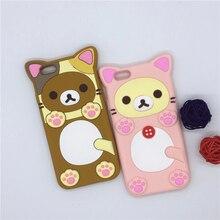 NEW 3D Cartoon Rilakkuma Bear Cat Case Soft Silicone Cover For Apple iPhone SE 5 5S 5C & 6 6S 7 7S 4.7″ & 6 6S 7 7S Plus 5.5″