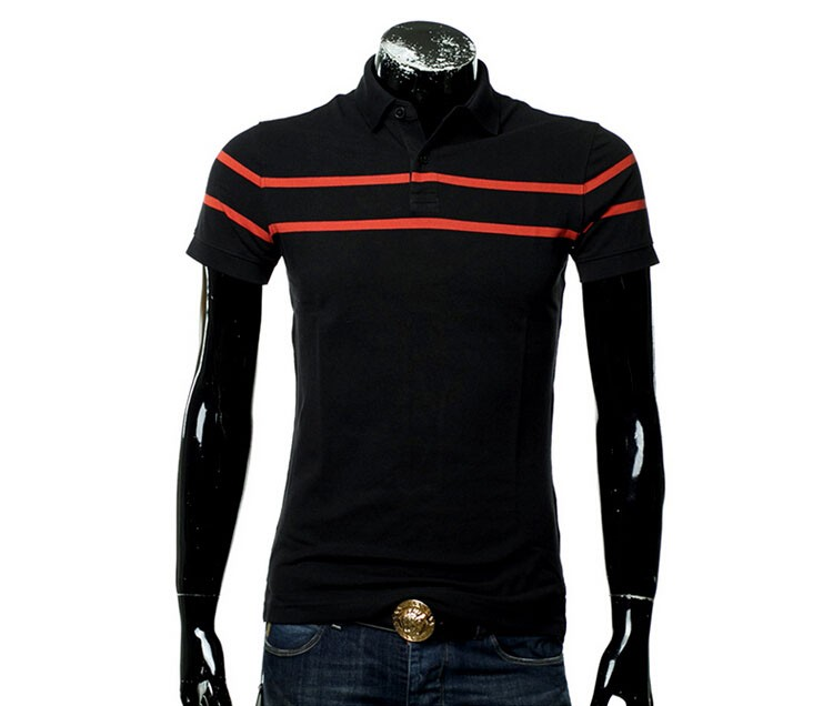 Polo Men Fashion Casual Classic Striped Golf Polo Shirt Slim Fit Summer Cotton Short Sleeve Tee Camisa Polos Homme Plus Size 3XL (13)